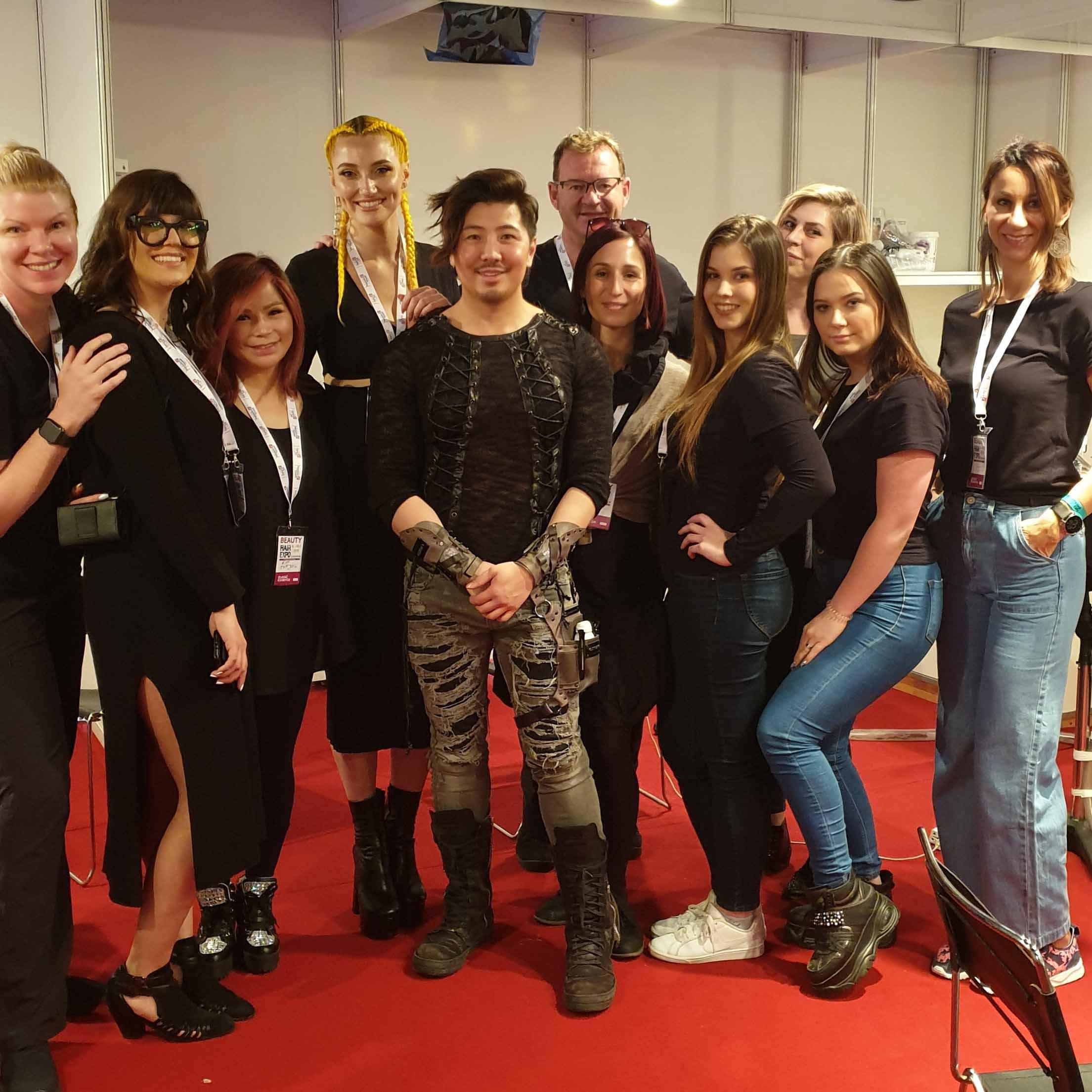 HAIR EXPO ZAGREB 2019: Callegarijeve polaznice šminkaju modele za GUY TANGA, TONI&GUY i KANSO