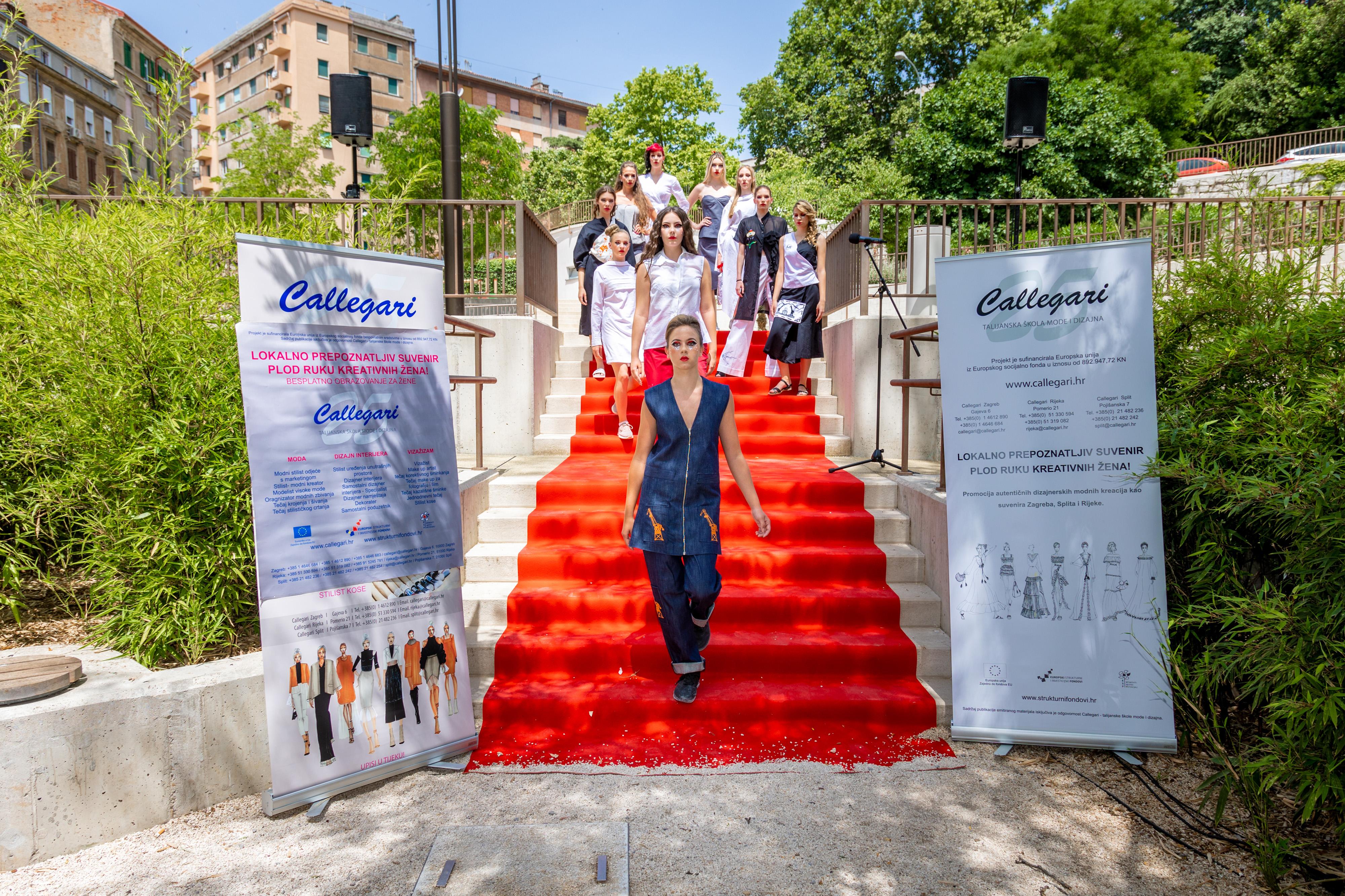 CALLEGARIJEVA modna revija SUVENIRA RIJEKE na crvenom tepihu parka Pomerio