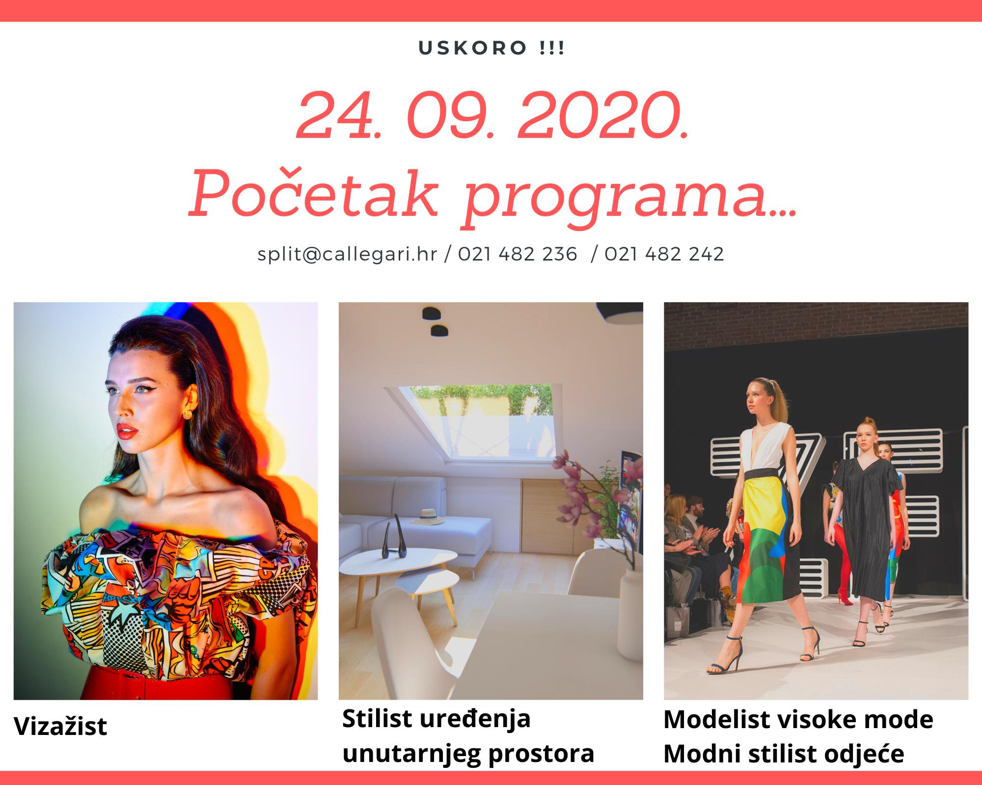 Početak programa jesen 2020