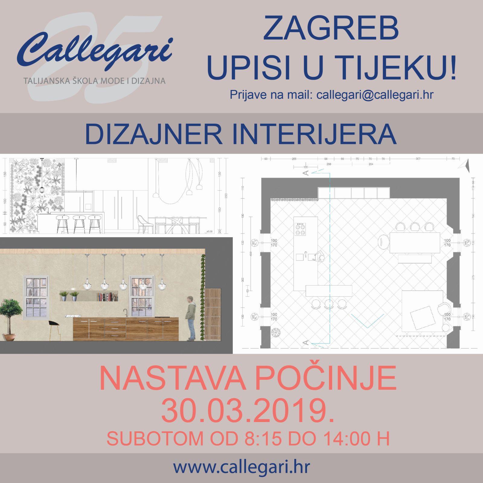 Dizajner interijera - upisi