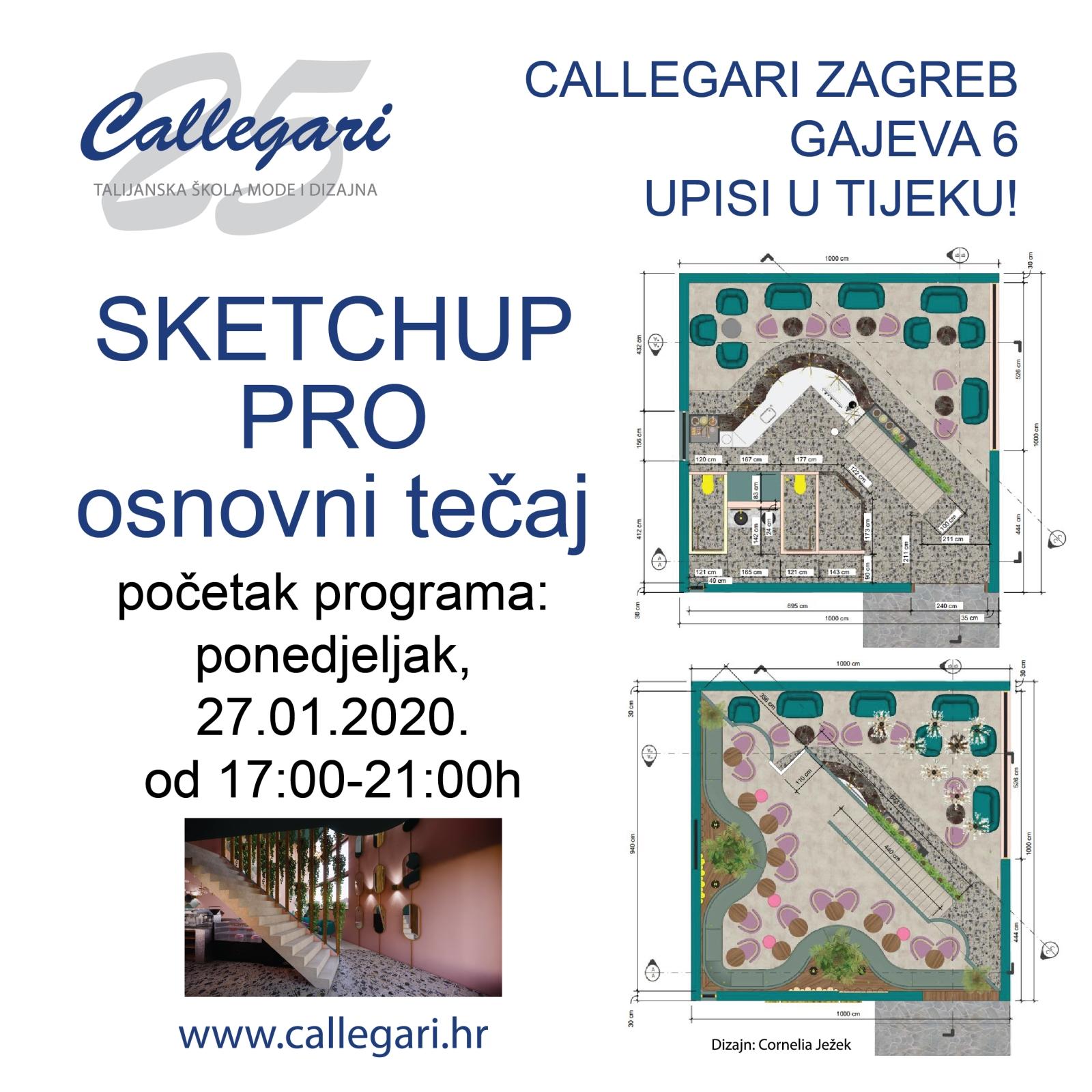 SketchUp Pro osnovni tečaj